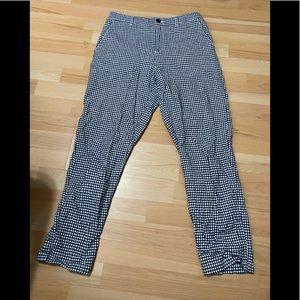 Uniqlo Checkerd Linen Blend Pants size M